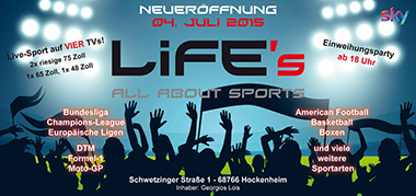 LIFE's - all about sports - Sportsbar in Hockenheim